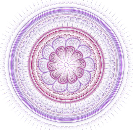 Fractal mandala on background. Crazy abstract fractal shapes with kaleidoscopical pattern