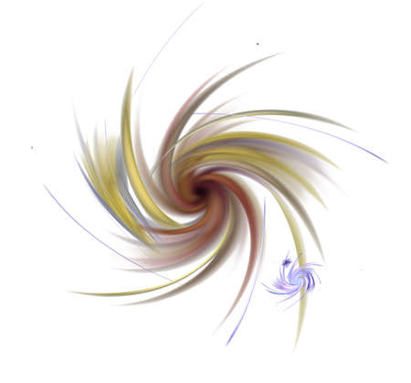 Elegant bright sophisticated background with ribbons, discs, lines and rings. Intricate curved design. Soft abstract fractal for 3D illustration or cover.