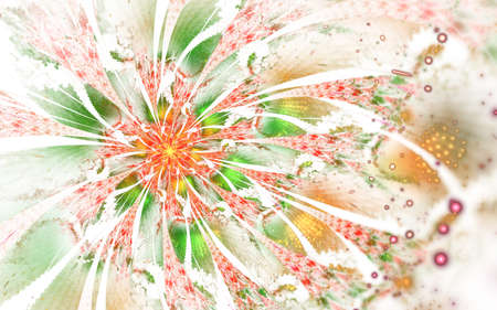 Abstract computer generated fractal flower design. Digital artwork for tablet background, desktop wallpaper or for creative cover design.