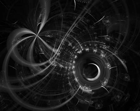 Modern fractal mechanical background. Time machine, digital artwork for creative graphic design. Abstract fractal steampunk machine
