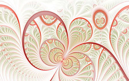 Beautiful abstract fractal artwork with details. Floral illustration for art projects