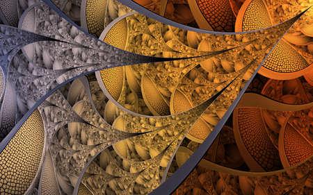 Modelli e forme astratti di frattali. Trama frattale. Per stampe puzzle o cravatte o altre stampe di alta qualità. I frattali sono modelli infinitamente complessi che sono auto-similari su diverse scale.