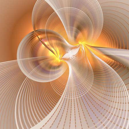 Abstrait de lignes tourbillonnantes. Effet multi-lignes d'ondes lumineuses au néon.
