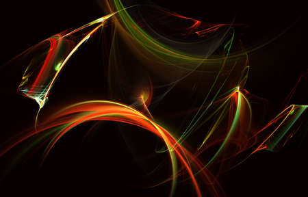 Color of waving smoke in the abstract background. Illustration wave design. Modern glowing shape design. Energetic Light Tracks and effects. Luminous shining neon lights cosmic abstract