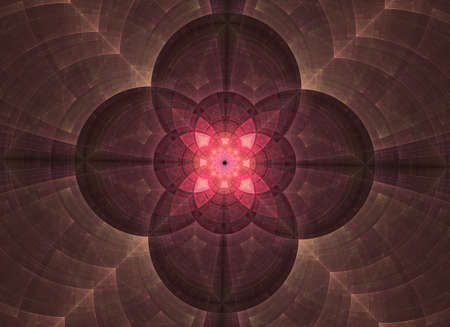 Creative bright mandala. Kaleidoscope abstract sacred geometry. Ethnic fractal artwork. Symmetric stylish graphic design pattern for fabric, textile or paper. Colorful digital creative artwork.