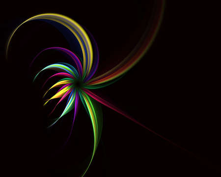 Magic spiral flowers. Abstract fractal. Fractal art background for creative design and decoration. Computer-generated illustration