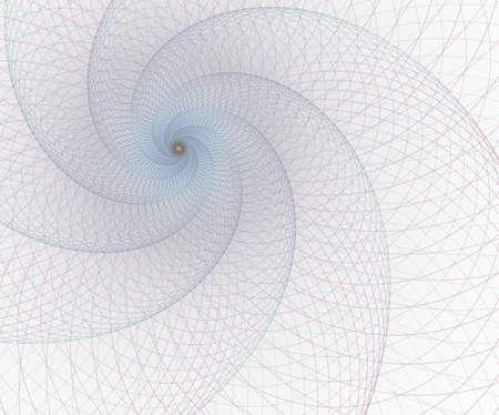 Surreal futuristic design. Digital art abstract background fractal illustration for meditation and decoration. Geometry, mesh element. Intersection curves. Stock Illustration - 127178750