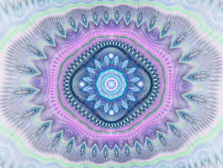 Kaleidoscope pattern abstract background. Computer generated geometrical symmetrical ornament design, for printing on canvas, tiles, bandanas, plates, pillows etc. Floral fractal decoration Reklamní fotografie