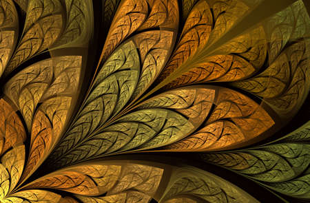 Multicolored floral pattern in stained-glass window style. Symmetrical fractal pattern. Multicolor beautiful Tree foliage. Computer generated graphics. For invitations, notebook covers, cases, cards