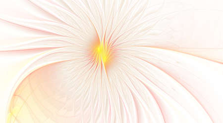 Fractal fantasy and artistic flower. Beautiful shiny futuristic background. Beautiful shin bloom. An abstract computer generated modern fractal design on white background. Digital art design element. Stock Photo - 127179026