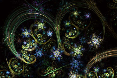 Glowing swirls with fancy gloss. A spiraling fractal design for a background or backdrop.