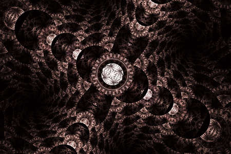 Abstract fractal patterns and shapes. Space geometry. Dynamic flowing forms with spirals. Mysterious psychodelic relaxation pattern. Fractal swirls, digital artwork for creative graphic design