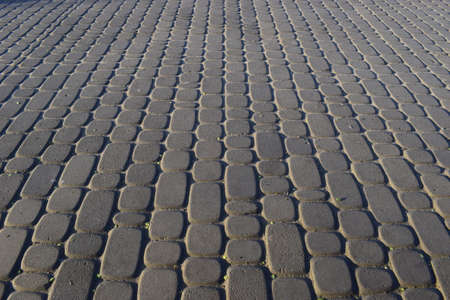 Abstract background - gray paving slabs close-up. Imagens
