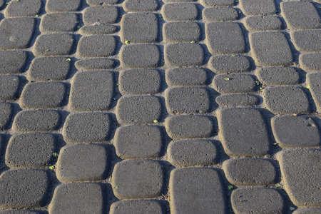 Abstract background - gray paving slabs close-up. Zdjęcie Seryjne