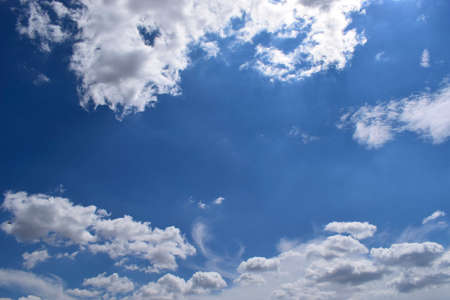 Beautiful blue sky with clouds background. Sky with clouds weather nature clouds and blue sky with sun. Aerial sky and clouds background.