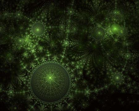 SteamPunk Fractal Background - Universe Clockwork Fractal Art. Fractal light art design. 3D rendering abstract fractal light Imagens