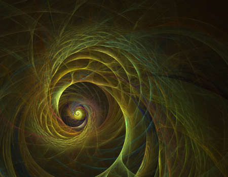 Double fractal spiral with the illusion of rotation in a bright colorsDouble fractal spiral with the illusion of rotation in a bright colors.