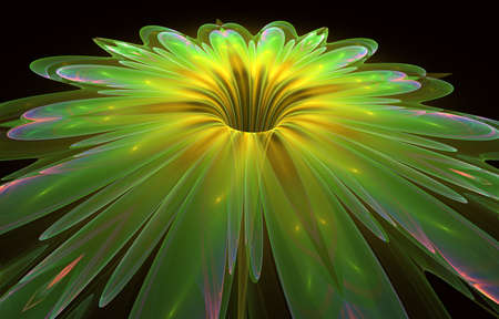 Beautiful lush flower. Beautiful abstract flower for art projects, cards, business, posters. 3D illustration, computer-generated fractal