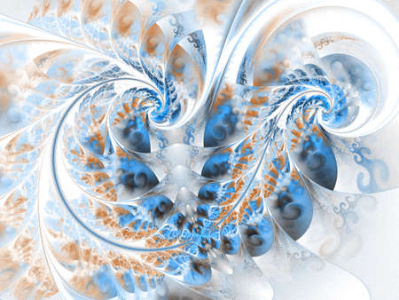 Dynamic flowing natural forms. Flowers and spirals. Mysterious psychedelic relaxation pattern. Beautiful fractal floral art.