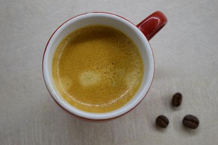 Coffee cup and coffee beans. Coffee cup and coffee beans