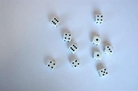 multiple: Multiple dice on white background