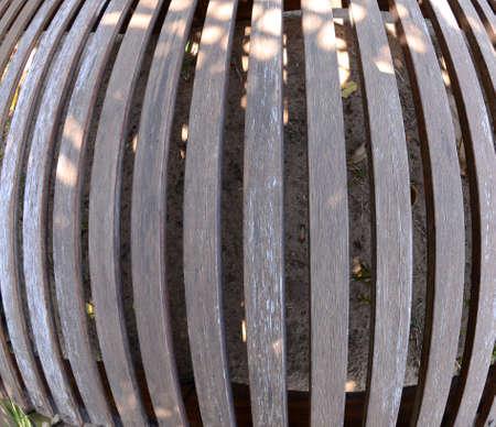 fish eye: Thin wood planks texture fish eye lens