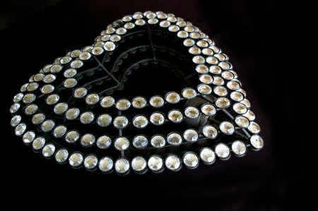 diamante: Diamante heart on black background