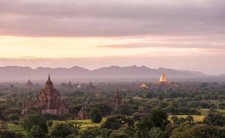 bagan: Sunrise of Bagan, Myanmar