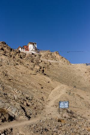 tibetan house: Way up to Namgyal Tsemo castle near Leh palace in Leh, Ladakh, Jammu and Kashmir, India.
