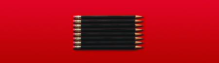 Black Pencils Banco de Imagens