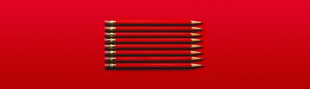 Red Pencils Banco de Imagens