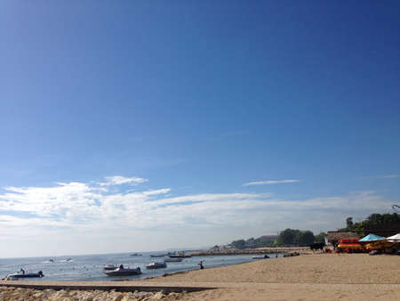 nusa: Blue sky above nusa dua beach