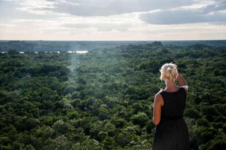 look inside: Coba Mayan Ruins in Mexico Yucatan look inside the jungle 3