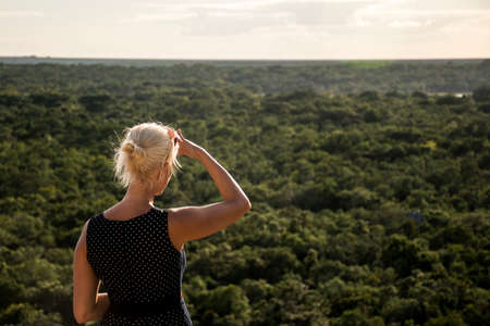 look inside: Coba Mayan Ruins in Mexico Yucatan look inside the jungle