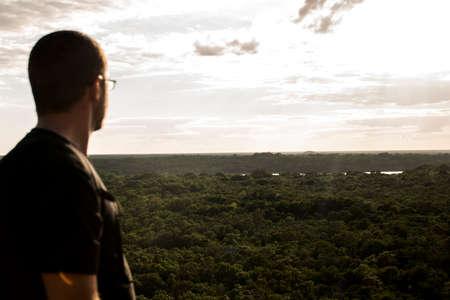 look inside: Coba Mayan Ruins in Mexico Yucatan look inside the jungle 2 Stock Photo