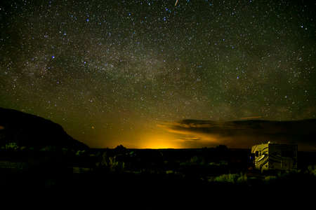 moab: Moab Utah Arches National Parc Stars in the night 2 Stock Photo