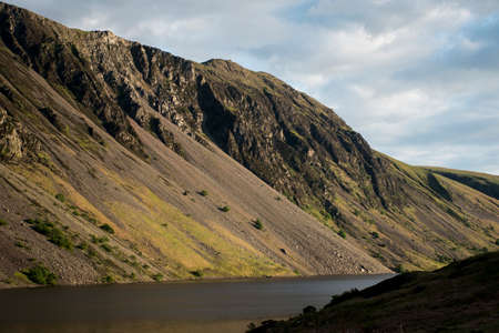 lake district england: Wasdale wastwater Lake District England Mountain scafell