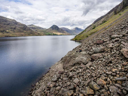 Wasdale wastwater Lake District England Mountain scafell 8 Stock Photo