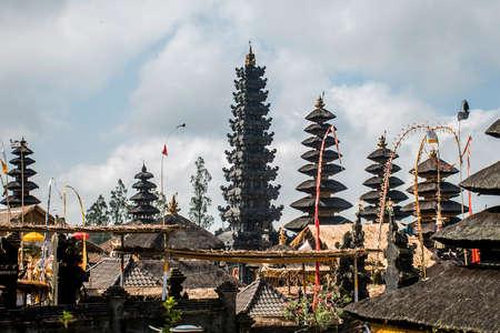 pura: Pura besakih mother temple Bali Indonesia near Gunung Agung 7 Stock Photo