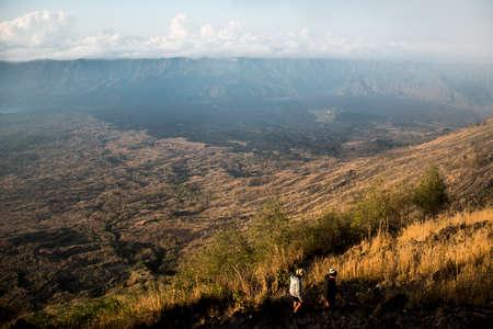 active volcano: Bali Indonesia hiking big active volcano Batur Gunung