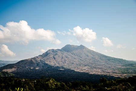 active volcano: Bali Indonesia hiking big active volcano Batur Gunung 4 Stock Photo