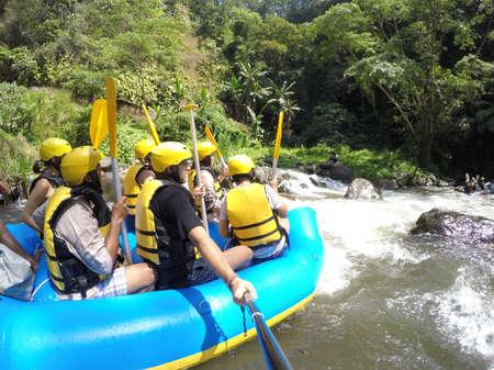 Bali Indonesia Ubud the Jungle Wild water rafting Standard-Bild