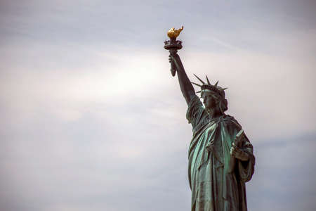 The Statue of Liberty in New York Skyline Monument 3