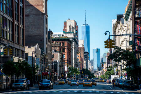 New York City Taxi Streets USA Skyline the Big Apple 3 Banco de Imagens