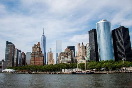 New York City USA Skyline the Big Apple River View 6 Stock Photo