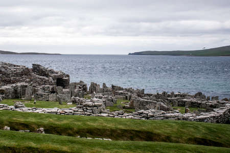 Broch of Gurness an Ancient settlement at Orkney island in Scotland UK