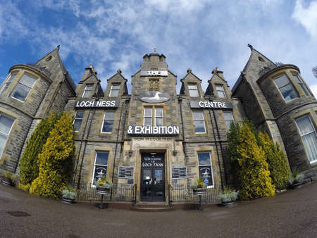 loch ness: The famous Loch Ness exhibition Centre in Scotland 21.05.2016 United Kingdom