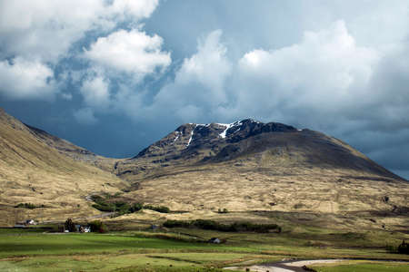 Glen Coe Highlands scotland in nature uphill for panorama view 4 Stock Photo