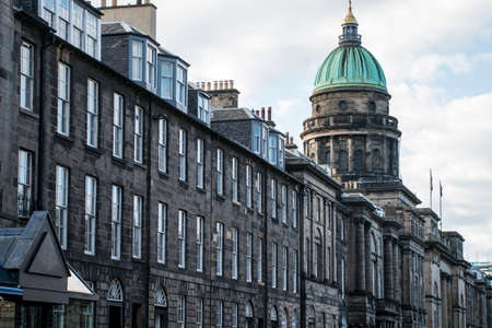 Edinburgh city historic Town the Architecture Fassade and Church Stock Photo