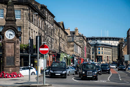 Scotland United Kingdom Edinburgh - Daily life and Taxi business in the Streets